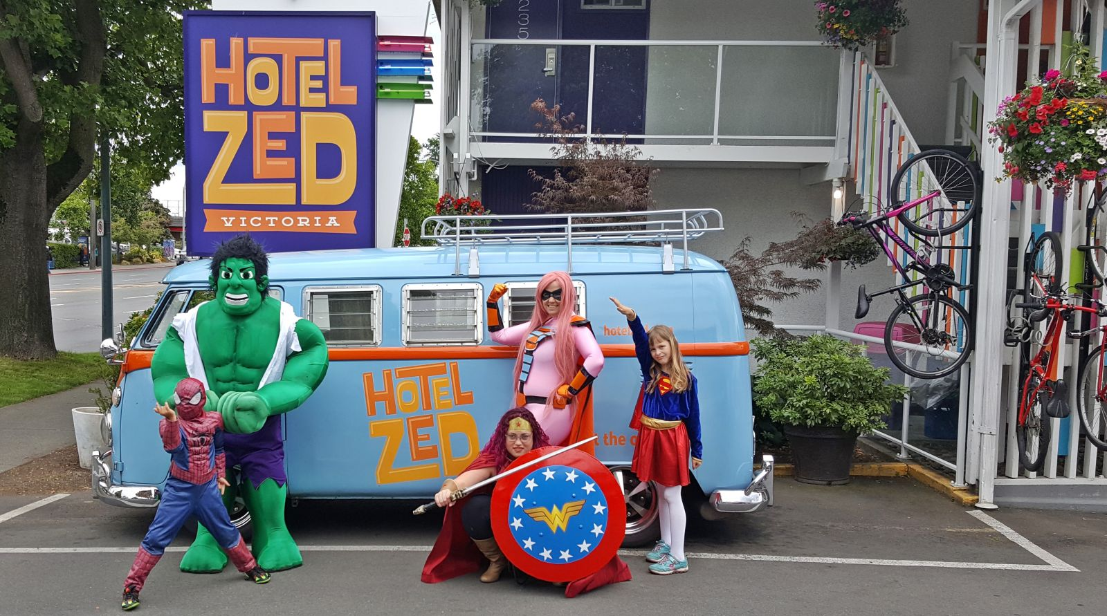 Superheros of Victoria at Hotel Zed