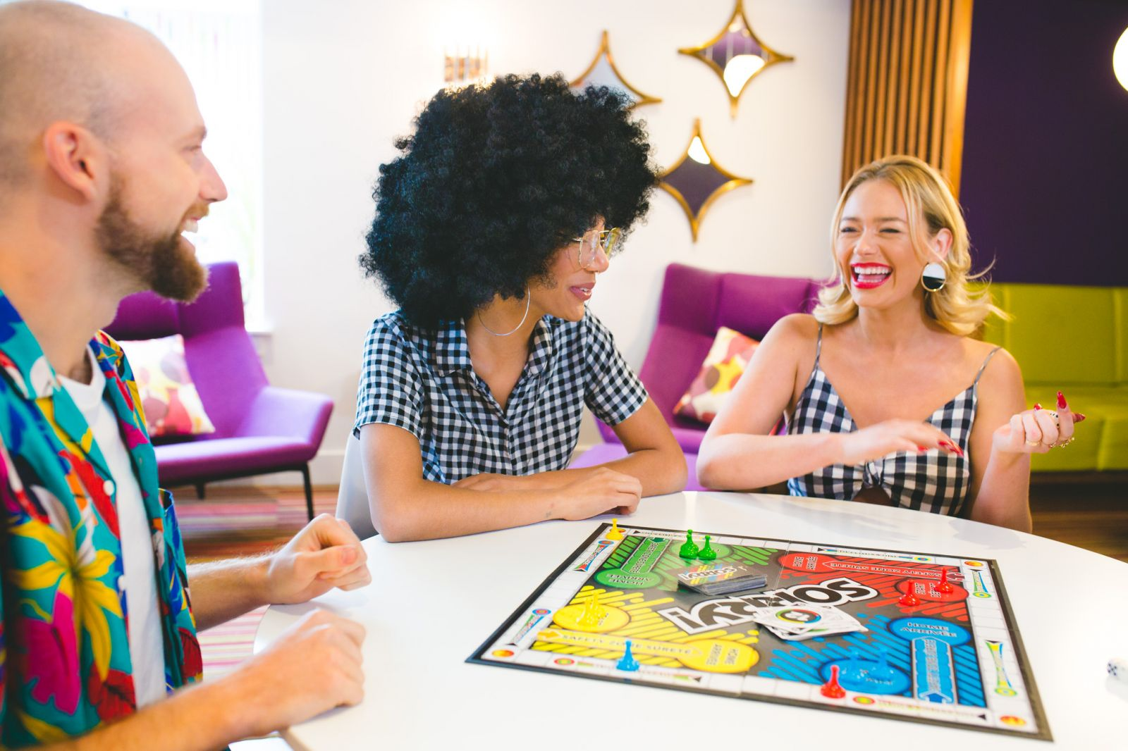 Lobby Board Games at Hotel Zed