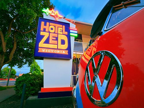 Hotel Zed Victoria Sign