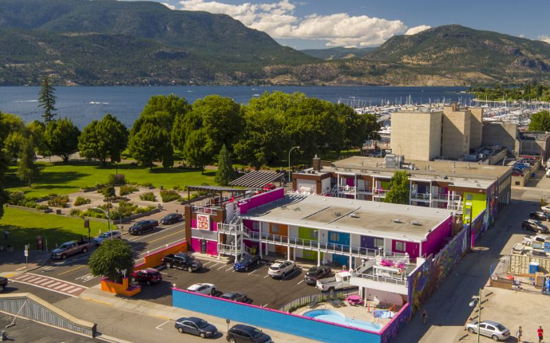 Fun map of Hotel Zed Kelowna